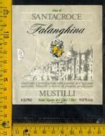 Etichetta Vino Liquore Falanghina Santacroce Mustilli - S. Agata Dei Coti BN - Etichette