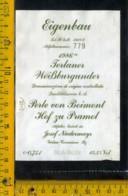 Etichetta Vino Liquore Terlaner Weissburgunder 1986 - Bolzano - Etichette