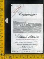 Etichetta Vino Liquore Chianti Terrarossa Melini - Poggibonsi - Etichette