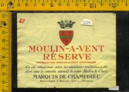 Etichetta Vino Liquore Moulin-A-Vent 1984 - Francia - Etichette
