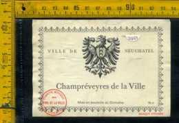 Etichetta Vino Liquore Champrèveyres De La Villa - Francia - Etichette