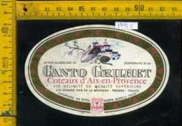 Etichetta Vino Liquore Coteaux D'Aix En Provence - Francia - Etichette