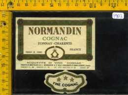 Etichetta Vino Liquore Cognac Normandin - Francia - Etichette