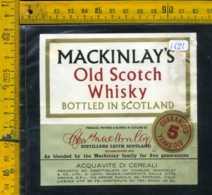 Etichetta Vino Liquore Whisky Mackinlat's - Scozia - Etichette