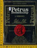 Etichetta Vino Liquore L' Amaro Petrus Boonekamp - Ponte Sul Mincio MN - Etichette