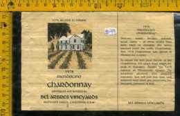 Etichetta Vino Liquore Chardonnay Mendocino 1978 - USA - Etichette