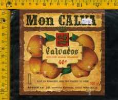 Etichetta Vino Liquore Calvados Mon Calva - Francia - Etichette