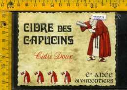 Etichetta Vino Liquore Cidre Des Capucins  Vimoutiers - Francia - Etichette