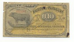 10 CENTAVOS 1886 UNIFACE - Paraguay