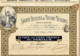 75-MANCHON METALLIQUE. STE FRANCAISE DU ...  Action 1911.  DECO - Hist. Wertpapiere - Nonvaleurs