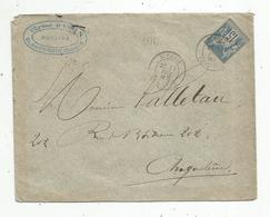 Lettre , 1887 , HIERSAC , CHARENTE , ANGOULEME , Ulysse BLOIN , Notaire , ST SATURNIN  , 3 Scans - 1877-1920: Période Semi Moderne