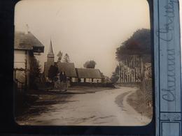 I62 - Plaque Photo - Positif - Chemin Cailly - Village à Identifier - N° 29 - Diapositiva Su Vetro