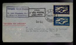 Portugal First Flight 1º VOO POSTAL ( LISBOA - PORTO ) Airmail 1945 #9930 - Poste Aérienne
