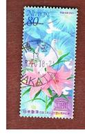 GIAPPONE (JAPAN) - SG 2916  -    2001 UNESCO: FLOWERS   - USED° - 1989-... Imperatore Akihito (Periodo Heisei)
