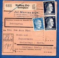 Colis Postal  - Départ Strasburg-Schiltigheim  -  18/06/1943 - Deutschland
