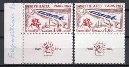 - FRANCE Variété N° 1422c - 1 F. PHILATEC 1964 - COULEUR DU FOND ROSE - - Variétés Et Curiosités