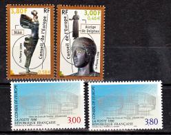 France Service 116 117, 120 121 1/4 De Cote Conseil De L'europe Neuf ** TB MNH Sin Charnela Cote 11.5 - Nuovi