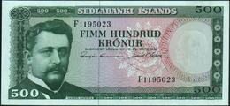 ICELAND - 500 Kronur L.29.03.1961 UNC P.45 - IJsland