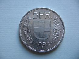 SUISSE    5  Francs  1932   Schweiz - Myanmar