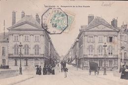 Poste Ferroviaire Ambulant Hexagonal Paris Aux Pyrenees Sur Type Blanc  CP Orleans  Rue Royale Pour Angers - Postmark Collection (Covers)