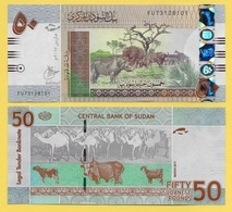 Sudan 50 Pounds P-75d 2017 UNC - Soudan