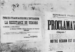 FORCES FRANÇAISE  De L' Interieur  LA RESISTANCE DU VERCORS  18X22  Cm - Documenti Storici
