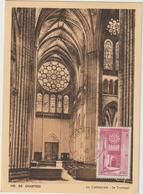 Carte-Maximum FRANCE N° Yvert 664 (Cathédrale De CHARTRES) Obl Sp Dernier Jour (Ed CAP ND 80 Gd Ft) RR - 1940-49
