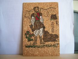 1982 - Olbia Sassari Teulada Nuoro - Il Pastore - Cartolina Di Sughero - Folklore Costume - Cartoline