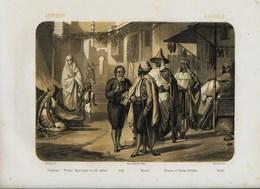 Litho  XIX éme - *  EGYPTE   * Différents Types  - Le Monde En Estampes: ParJ. B. Auguste Leloir (1809 - 1892) - Lithographies