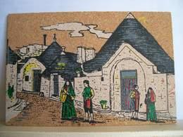 1993 - Bari - Alberobello - Via Monte Santo - Cartolina Di Sughero - Folklore Costume - Altri