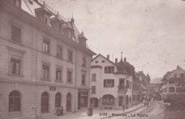 Photo Carte De Moutier La Poste Circulée En 1918 Avec Cachet Militaire Voir Verso - BE Berne