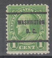 USA Precancel Vorausentwertung Preo, Bureau District Of Columbia, 632-61 - Vereinigte Staaten