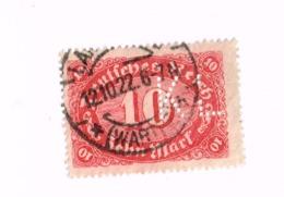 """Perforé """"KL"""" Sur Chiffre. Yvert 175 - Allemagne"""
