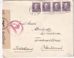 DANEMARK 1944 LETTRE CENSUREE DE VEJLE - Brieven En Documenten
