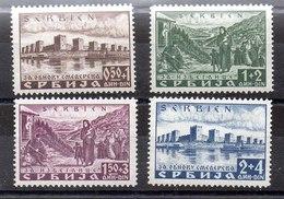 Serie De Ocupación Alemania Serbia N ºMichel 46A/49A ** - Ocupación 1938 – 45
