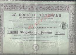 ACTION LA SOCIÉTÉ GÉNÉRALE : - Banque & Assurance