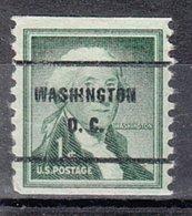 USA Precancel Vorausentwertung Preo, Bureau District Of Columbia, 1054-61 - Vereinigte Staaten