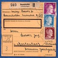 Colis Postal  - Départ Baumholder Arbeiterlager  -  25/3/1943 - Allemagne