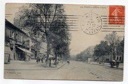 PARIS 13° --1913--Avenue D' Italie (animée,attelage )........à Saisir - Arrondissement: 13
