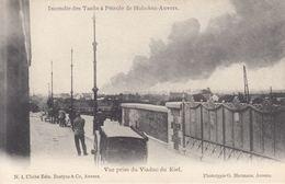 ANVERS-HOBOKEN. Incendie Des Tanks à Pétrole. 17 Cartes Postales - Belgio