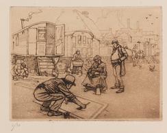 Franz GAILLIARD (Bruxelles, 1861 - 1932) - Derrière Les - Estampes & Gravures
