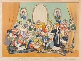Charles LECHAT - [Réunion Mondaine De Jockeys]. - Estampes & Gravures