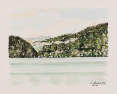 Suzanne LOPATA - [Paysage Au Bord De L'eau]. - Estampes & Gravures