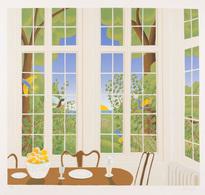 Thomas Frederick MCKNIGHT - [Salle à Manger Avec Vue Su - Estampes & Gravures