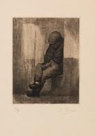 Kurt PEISER (Anvers, 1887 - Uccle, 1962) - [Homme Assis - Estampes & Gravures