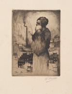 Kurt PEISER (Anvers, 1887 - Uccle, 1962) - [Femme Debou - Estampes & Gravures