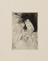 Théo VAN RYSSELBERGHE (1862-1926) - [Nu Féminin Assis]. - Estampes & Gravures