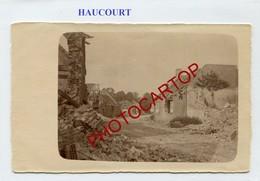 HAUCOURT-Juin 1917-CARTE PHOTO Allemande-Guerre 14-18-1WK-France-62-Militaria- - Otros Municipios
