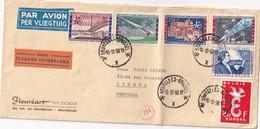BELGIQUE 1958 PLI AERIEN DE BRUXELLELS POUR LISBONNE - Lettres & Documents