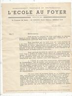 Courrier Commercial, L'ECOLE AU FOYER , LA VARENNE , Seine, Enseignement Technique Et Porfessio , 1943 , Frais Fr 1.55 E - Francia